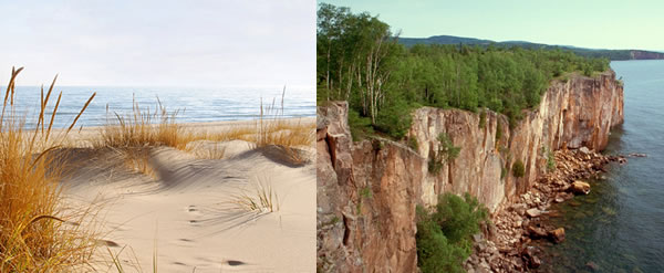 Lake Michigan's and Lake Superior's East Shore - Twinfinn